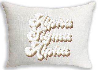 Alpha Sigma Alpha Retro Throw Pillow