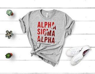 Alpha Sigma Alpha Ripped Favorite T-Shirt