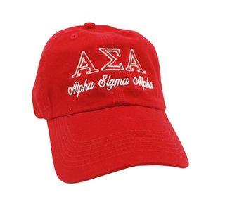 Alpha Sigma Alpha Script Cap