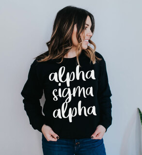 Alpha Sigma Alpha Script Crew Sweatshirt