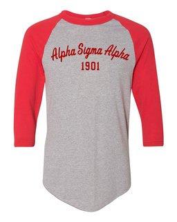 Alpha Sigma Alpha Script Established Raglan