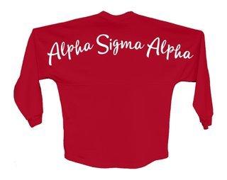 Alpha Sigma Alpha Script Jersey