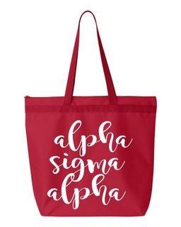 Alpha Sigma Alpha Script Tote bag
