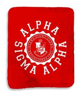 Alpha Sigma Alpha Seal Sherpa Lap Blanket