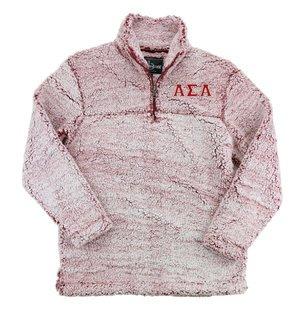 Alpha Sigma Alpha Sherpa Quarter Zip Pullover