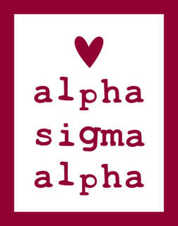 Alpha Sigma Alpha Simple Heart Sticker