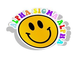 Alpha Sigma Alpha Smiley Face Decal Sticker