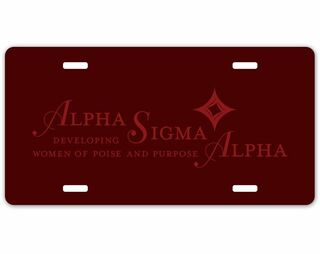 Alpha Sigma Alpha Sorority Logo License Cover