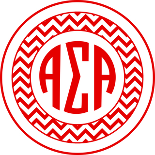 Alpha Sigma Alpha Sorority Monogram Bumper Sticker