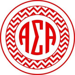 Alpha Sigma Alpha Sorority Monogram Bumper Sticker