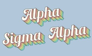 Alpha Sigma Alpha Sorority Retro Flag