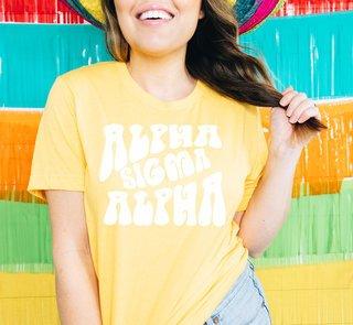 Alpha Sigma Alpha Sorority Shag T-Shirt