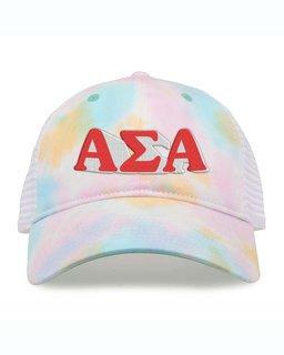 Alpha Sigma Alpha Sorority Sorbet Tie Dyed Twill Hat
