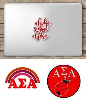 Alpha Sigma Alpha Sorority Sticker Collection - SAVE!