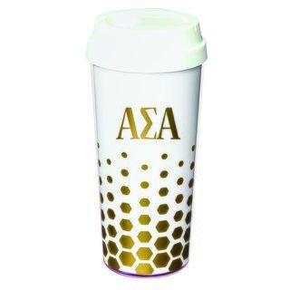 Alpha Sigma Alpha Sparkle Coffee Tumblers