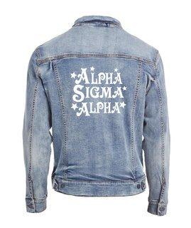 Alpha Sigma Alpha Star Struck Denim Jacket
