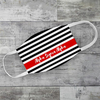 Alpha Sigma Alpha Stripes Face Mask