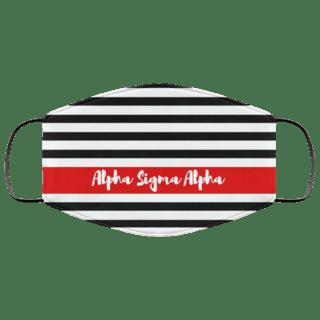 Alpha Sigma Alpha Stripes Face Mask