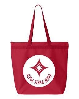 Alpha Sigma Alpha Symbol Circle Mascot Tote Bag