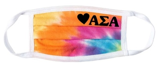 Alpha Sigma Alpha Tie Dye Face Mask