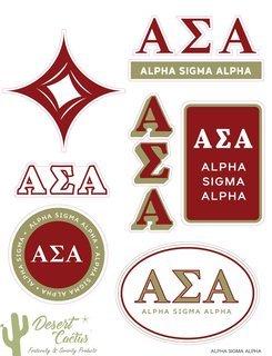 Alpha Sigma Alpha Traditional Sticker Sheet
