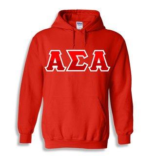 Alpha Sigma Alpha Two Tone Greek Lettered Hooded Sweatshirt