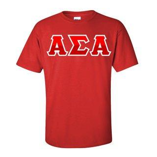 Alpha Sigma Alpha Two Tone Greek Lettered T-Shirt