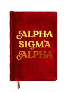 Alpha Sigma Alpha Velvet Notebook
