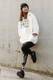 Alpha Sigma Alpha Vintage Rainbow Hoodie