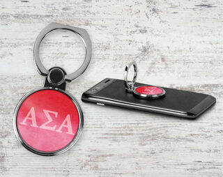 Alpha Sigma Alpha Water Color Phone Ring