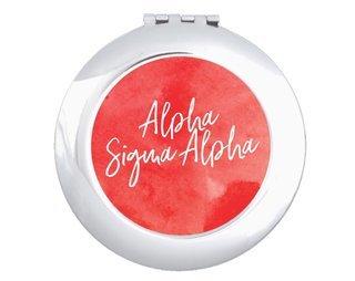 Alpha Sigma Alpha Watercolor Script Compact