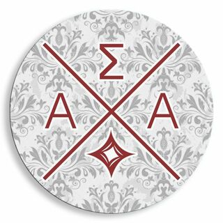 Alpha Sigma Alpha Well Balanced Round Decals