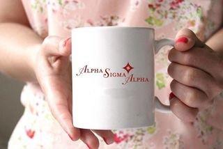 Alpha Sigma Alpha White Mascot Coffee Mug - Personalized!