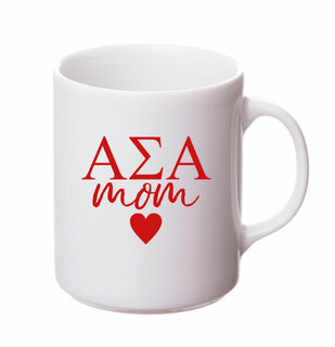 Alpha Sigma Alpha White Personalized Coffee Mug