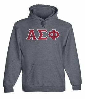 Alpha Sigma Phi - 2 Day Ship Twill Hooded Sweatshirt