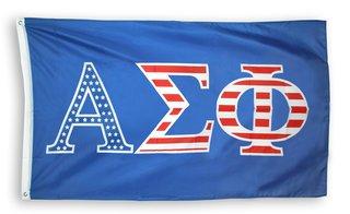 Alpha Sigma Phi 3 X 5 USA Flag