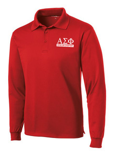Alpha Sigma Phi- $30 World Famous Long Sleeve Dry Fit Polo