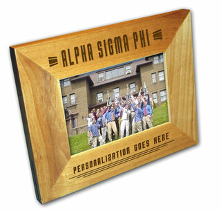 "Alpha Sigma Phi 4"" x 6"" Stripes  Custom Picture Frame"