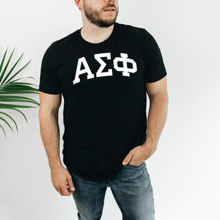 Alpha Sigma Phi Arched Greek Letter T-Shirt