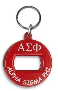 Alpha Sigma Phi BevKey Key Chain