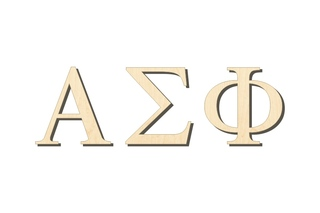 Alpha Sigma Phi Big Wooden Greek Letters