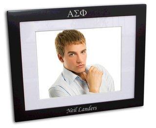 Alpha Sigma Phi Black Wood Picture Frame