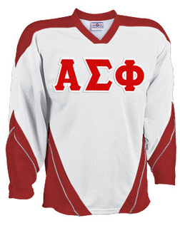 DISCOUNT-Alpha Sigma Phi Breakaway Lettered Hockey Jersey