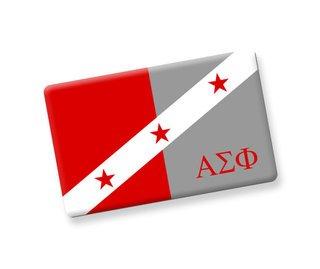 Alpha Sigma Phi Ceramic Flag Magnet