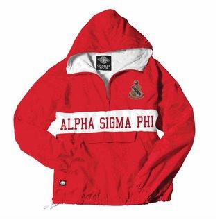 Alpha Sigma Phi Charles River Custom Stripe Greek Pullover Anorak