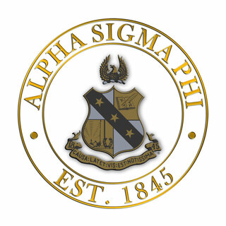 Alpha Sigma Phi Circle Crest - Shield Decal
