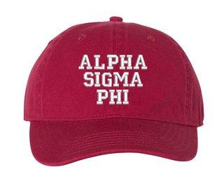 Alpha Sigma Phi Comfort Colors Pigment Dyed Baseball Cap