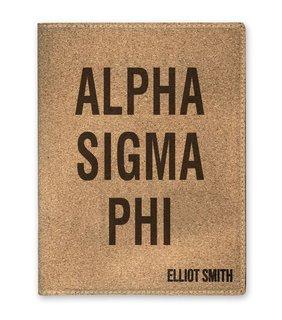Alpha Sigma Phi Cork Portfolio with Notepad