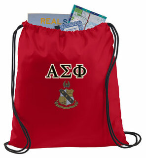 Alpha Sigma Phi Crest - Shield Cinch Sack