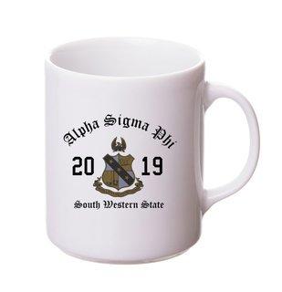 Alpha Sigma Phi Crest & Year Ceramic Mug